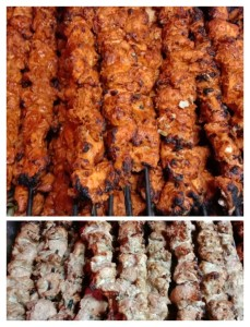 chicken tikka and reshmi kabab,kolkata caterers